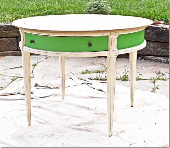 Drum Table Green