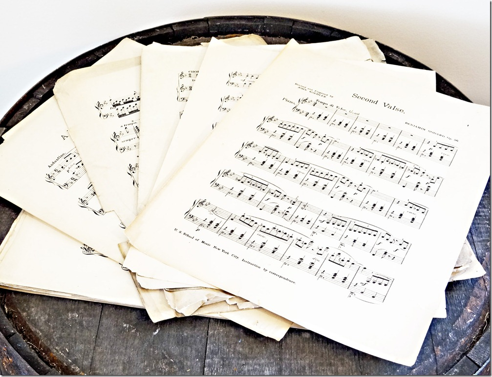 Large Sheet Music Set Spread