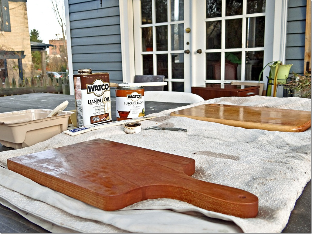 Bread Boards Stained