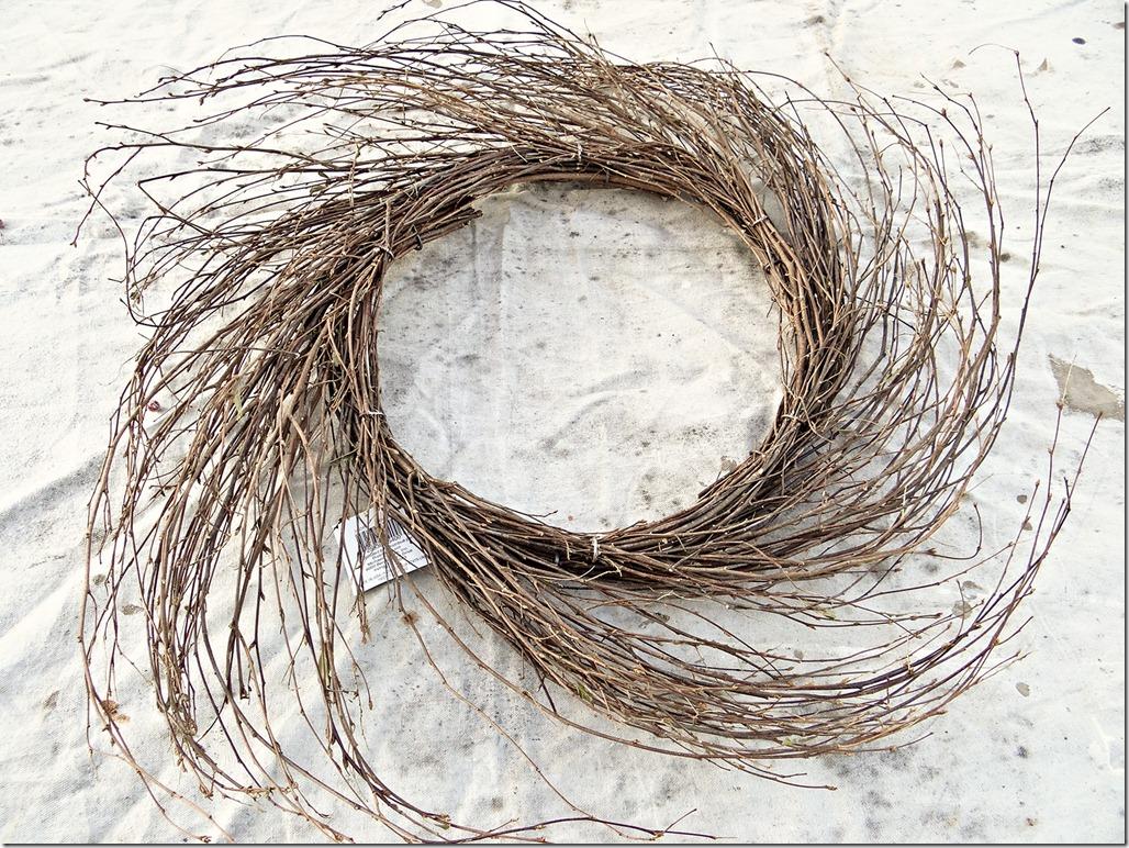Twig Wreath Unfinished