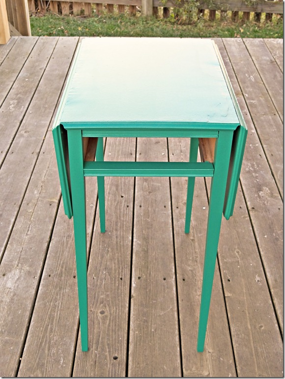 Side Table Green Suede