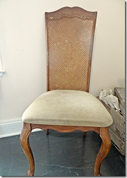 Cane Back Chair Unfinished