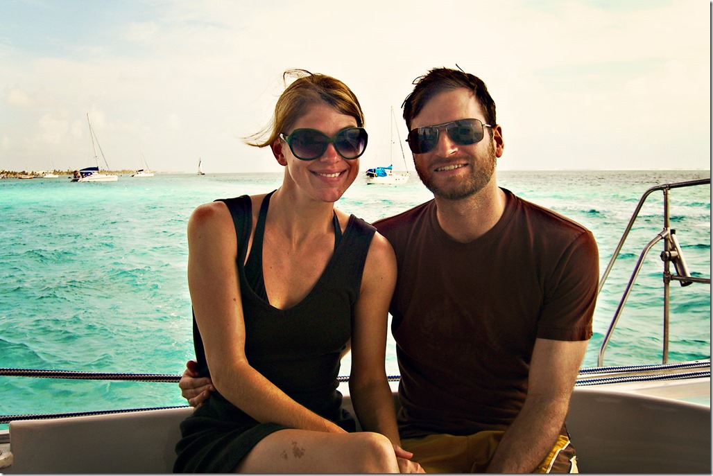 Tom & KK on Boat
