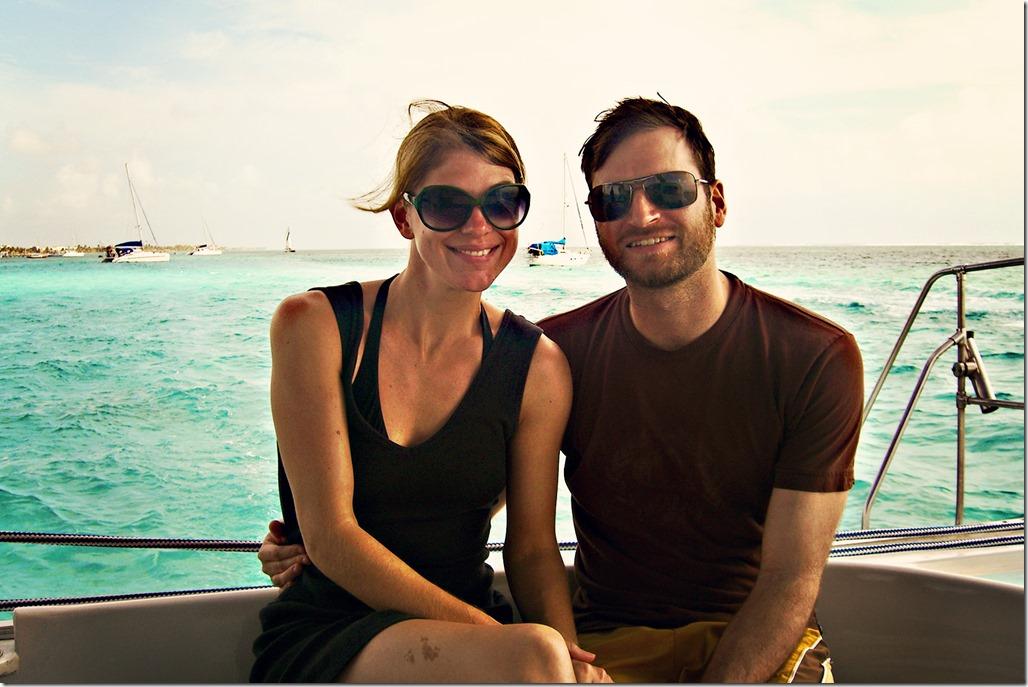 Tom & KK on Boat