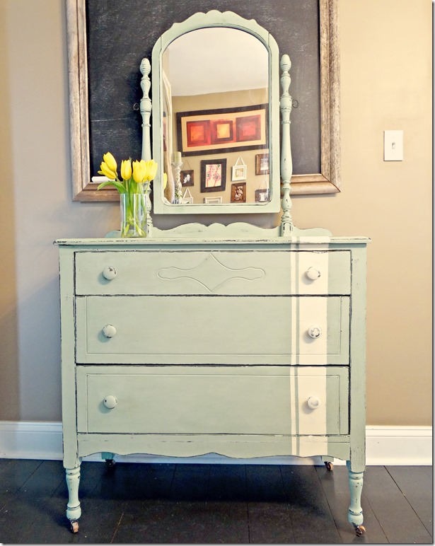 Antique Dresser Green