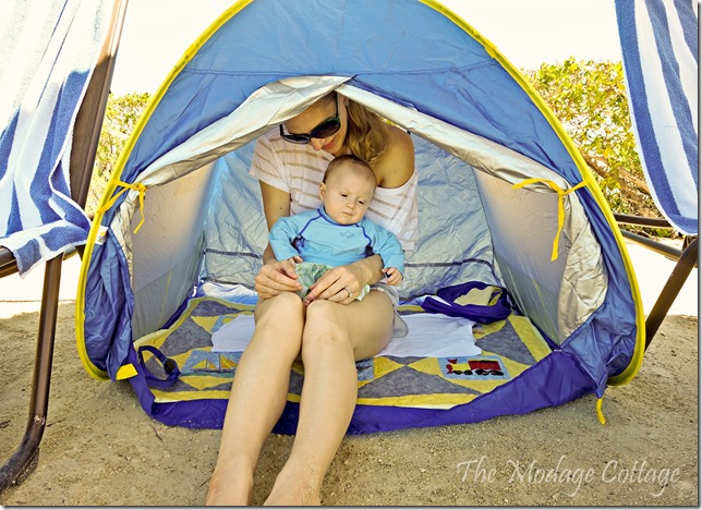 G and I in Tent